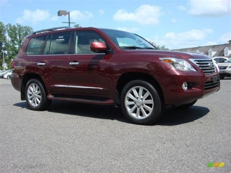 red lexus 2008 noble spinel red mica 2008 lexus lx 570 exterior photo