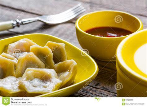 Dumpling Plate dumplings on a plate stock photo image 63626588