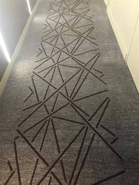 hotel hallway notice    carpet runner