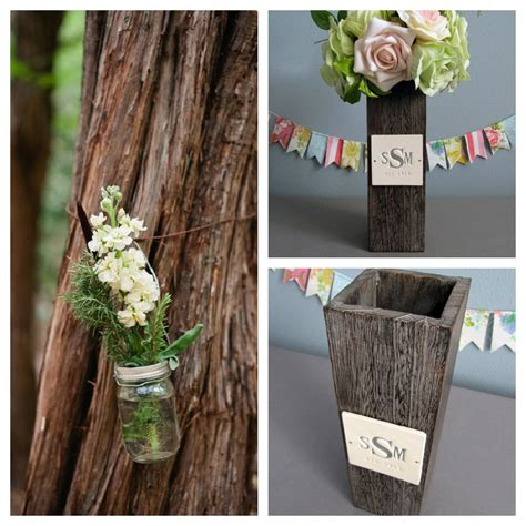 Rustic Vases For Weddings flat vase rustic centerpiece ideas the knot