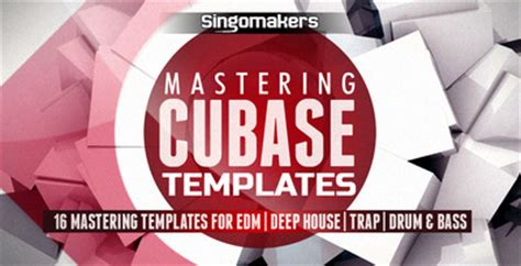 Cubase Mastering Templates Edm Mastering Tools Deep House Template Drum Bass Daw Template Cubase Mastering Templates