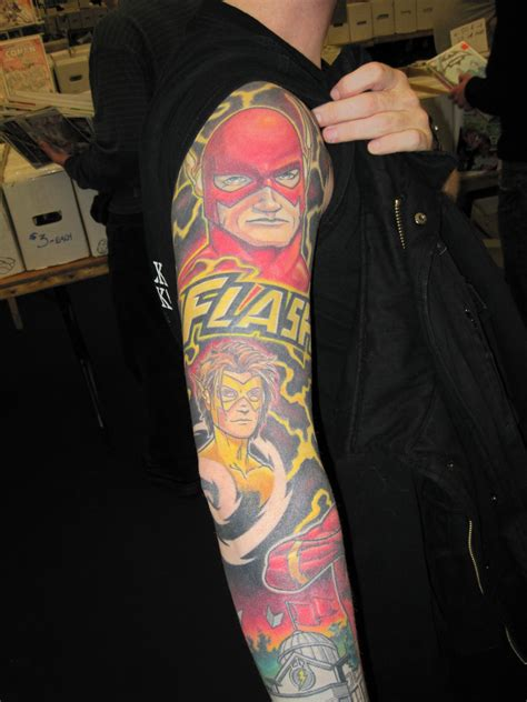 the flash tattoo 35 amazing comic book tattoos