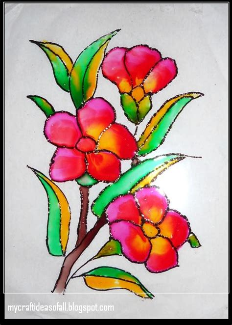 flower design for glass painting mycraftideasofall glass painting