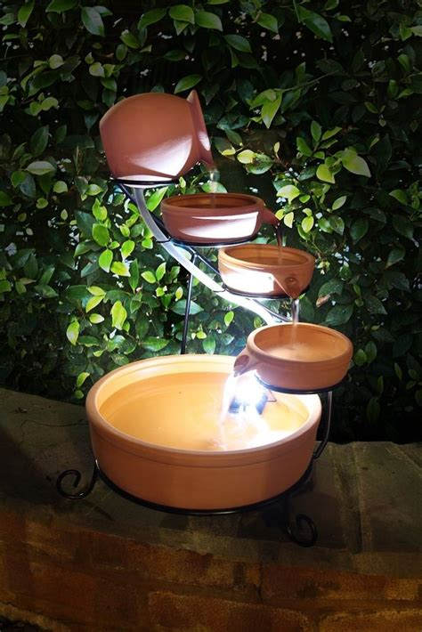 Ceramic Bowls Outdoor Ceramic Bowl Cascading Water Feature Vintage Jug Solar