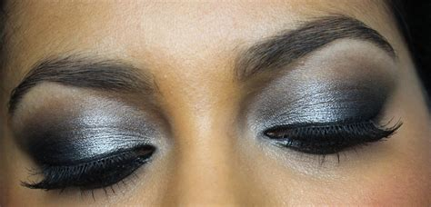 eyeshadow tutorial black and white black and silver eyeshadow tutorial www pixshark com