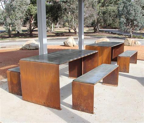 corten bench corten steel furniture google search corten steel
