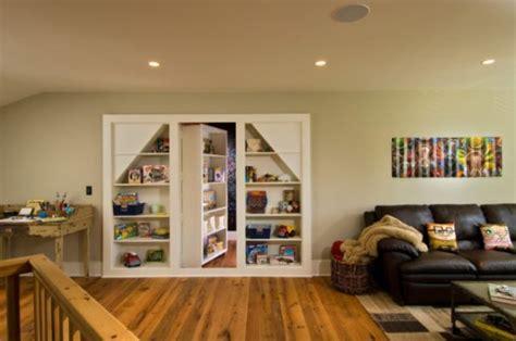 Under Staircase Storage secret bookcase doors always fun and always mysterious