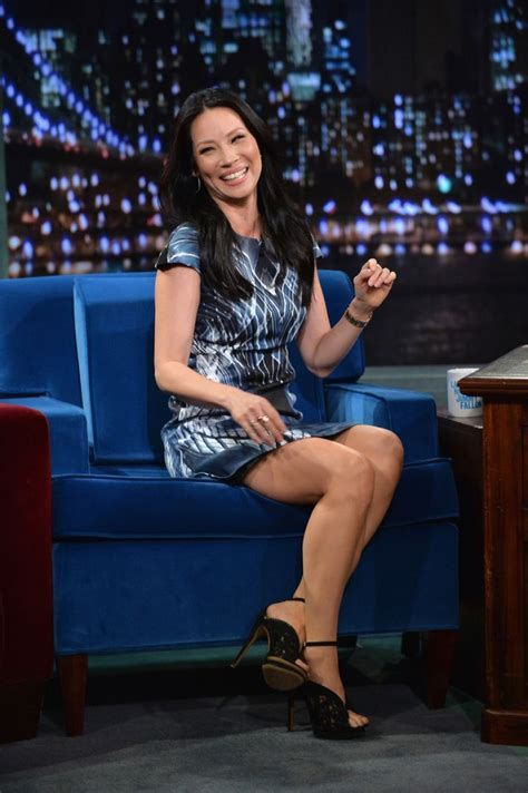 high heels show liu at late with jimmy fallon in new york city