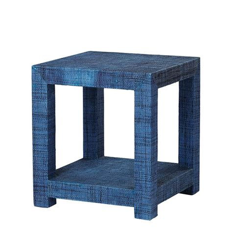 Navy Side Table Raffia Side Table Serena Pieces Lilies Tables And Side Tables