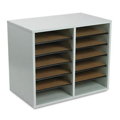 paper sorter shelves office desk paper sorter shelves file storage organizer 12 compartment wood new ebay