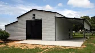 Metal Barns Raised Center Aisle Steel Barn 36 X 21 Buildings