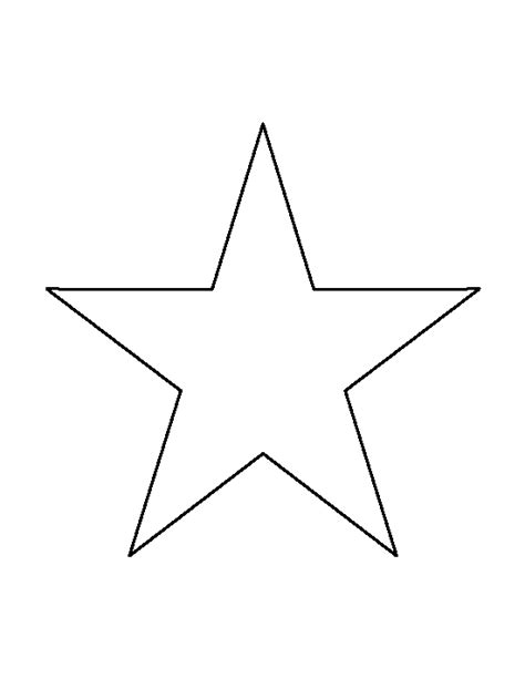 printable star outline 7 inch star pattern use the printable outline for crafts