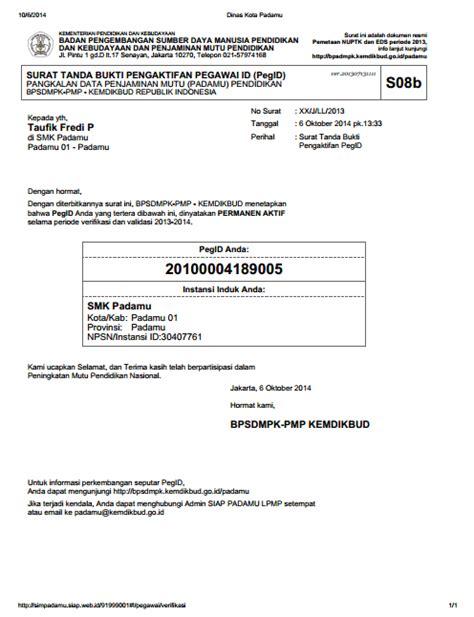 pemeriksaan pakta integritas registrasi ptk baru oleh