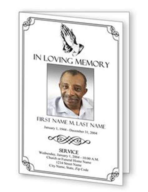 1000 Images About Obituary Templates On Pinterest Program Template Funeral And Praying Hands Free Obituary Template Photoshop