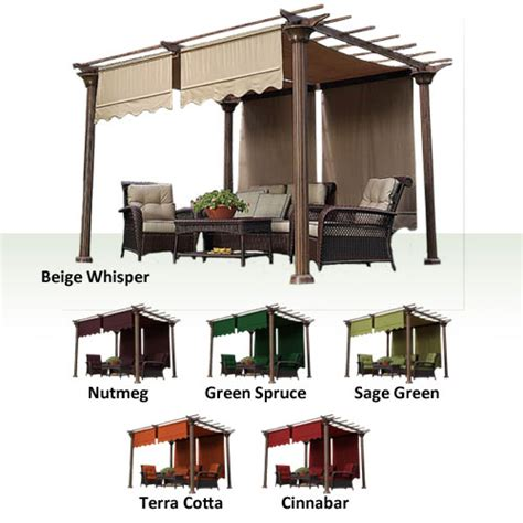 replacement canopy for pergola universal designer replacement pergola shade canopy ii garden winds canada