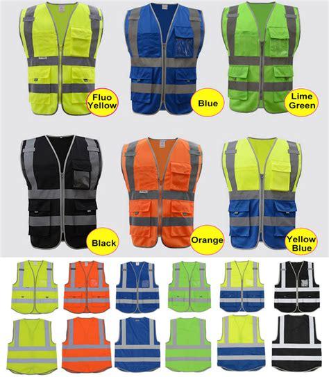 sfvest high visibility safety vest reflective polyester