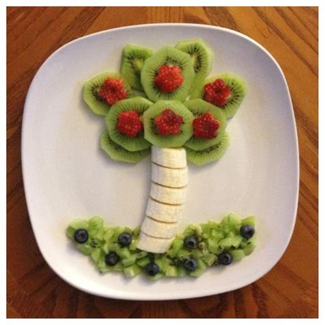 palm tree made of fruit pin by danelle on food kid friendly