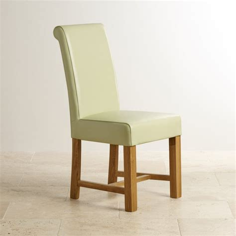 Contemporary Oak Dining Chairs Contemporary Dining Set In Oak Table 6 Leather Chairs