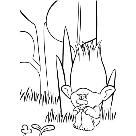 poppy and branch trolls pages coloring pages