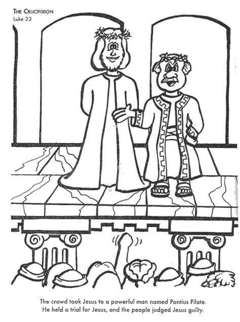 coloring pages jesus before pilate the crucifixion bible coloring page for kids to learn