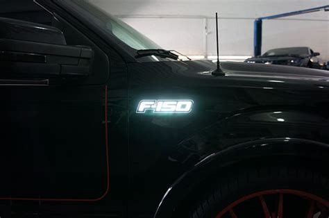 lighted f150 emblem 2016 recon led illuminated white colored fender emblems with