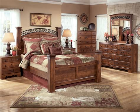 country bedroom furniture sets country bedroom furniture ashley timberline poster