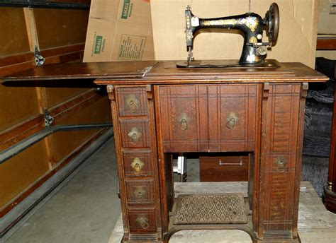 antique singer sewing machine with original wood quot parlor