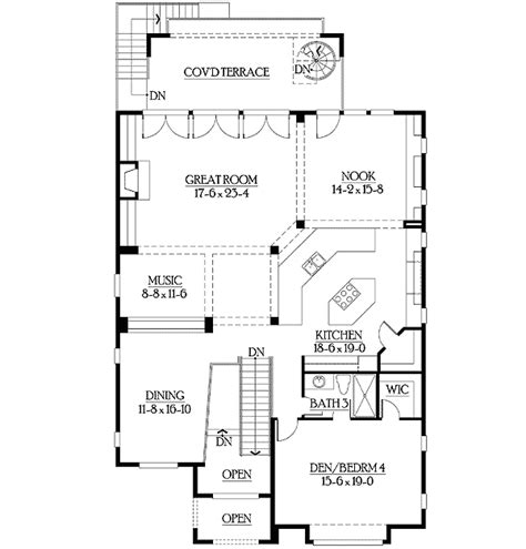 reverse living house plans reverse floor plans with living spaces up 23128jd