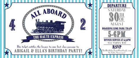 train birthday party for boys or girls