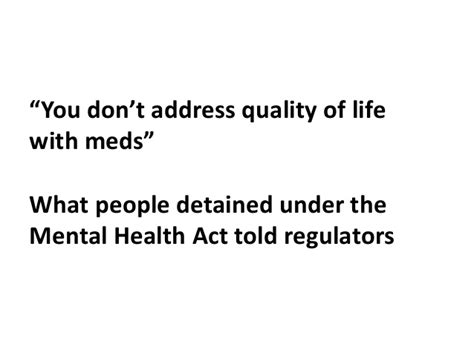 how do you section someone under the mental health act cqc mental health act quotes
