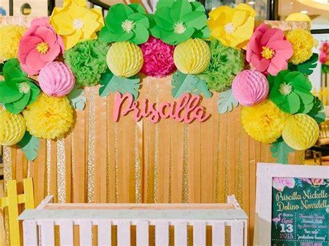 kara s party ideas photo backdrop from a tropical flamingo