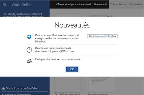 dropbox microsoft modifier des fichiers office sur le web sur dropbox