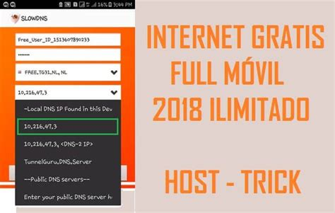 tutorial para obtener internet gratis internet gratis uff movil colombia 2018 con slowdns vpn apk
