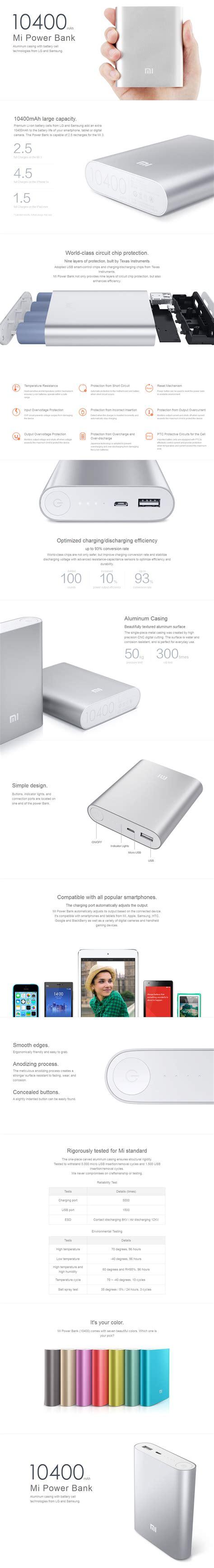 Powerbank Xiaomi 10400 xiaomi 10400 mah portable power bank charger review