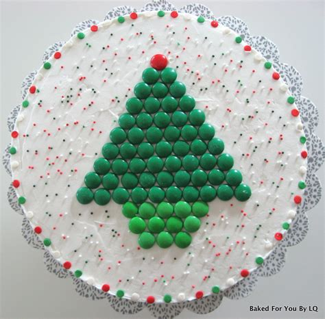 m m s christmas tree cake baked for you