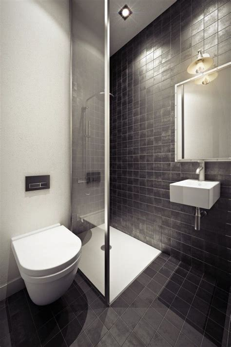 pinterest login pinterest small bathroom a small shower stall and floating sink in a tiled bathroom