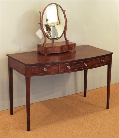 Three Mirror Vanity Antique Mahogany Side Table Regency Dressing Table