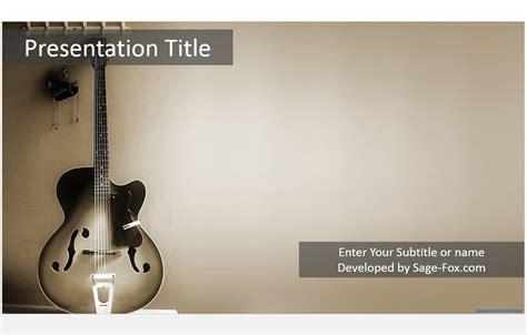 Free Guitar Powerpoint Template 4946 Sagefox Free Powerpoint Templates Guitar Powerpoint Template