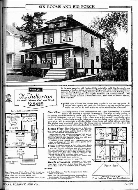 sears homes floor plans the fullerton sears home i the porch my style houses house plans