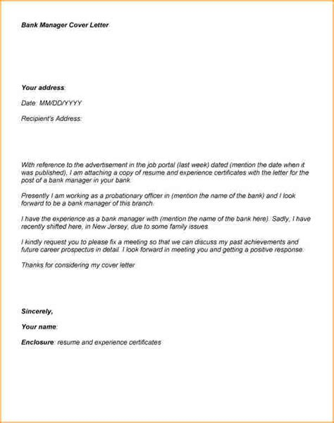 Cover Letter For Bank Position by 11 Bank Application Letter Basic Appication Letter