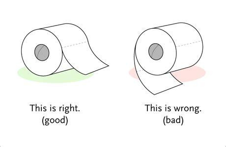 toilet paper proper way the great toilet paper debate know your meme