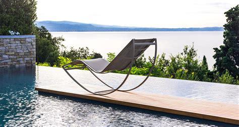 sedia sdraio da giardino don sdraio da esterno a dondolo italy design