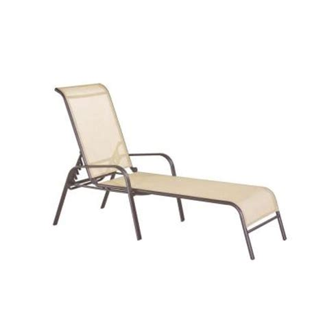 home depot chaise lounge navona steel sling patio chaise lounge fls00036g the