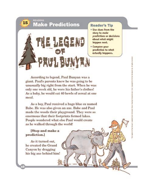 printable version of paul bunyan paul bunyan worksheet geersc