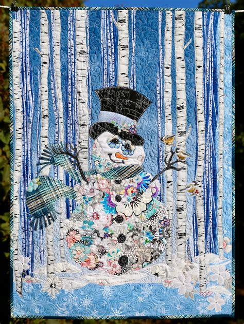 sir frosty snowman collage paper pattern marveles art studios
