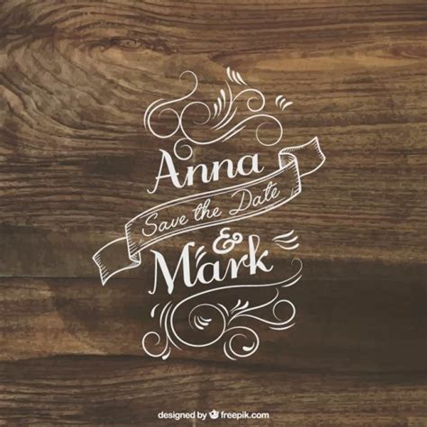Wedding Lettering by Wedding Invitation Lettering On Wood Vector Free