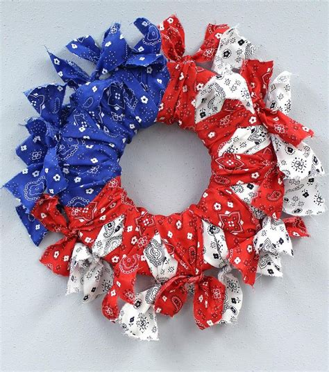 27 best patriotic images on bandana wreaths garlands and rag wreaths