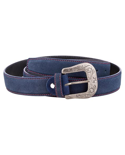 buy blue western leather belt leatherbeltsonline