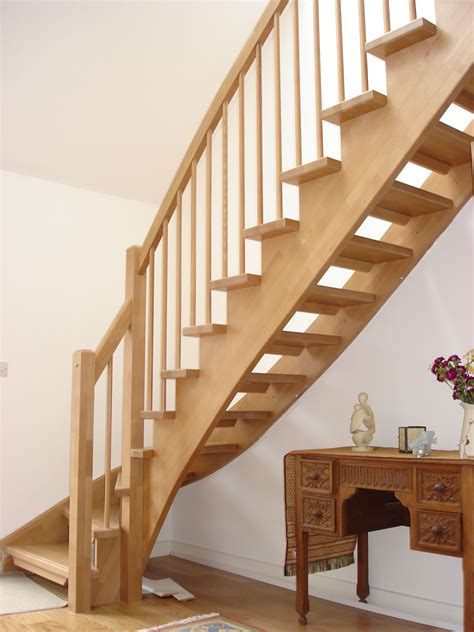 wooden staircase gorgeous unfinished pine wood open staircase with white