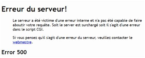 http 500 errore interno server comment r 233 parer l erreur 500 server error